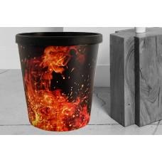 Papierkorb 18 Liter  Motiv Fire