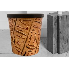 Papierkorb 18 Liter  Motiv Hieroglyphen